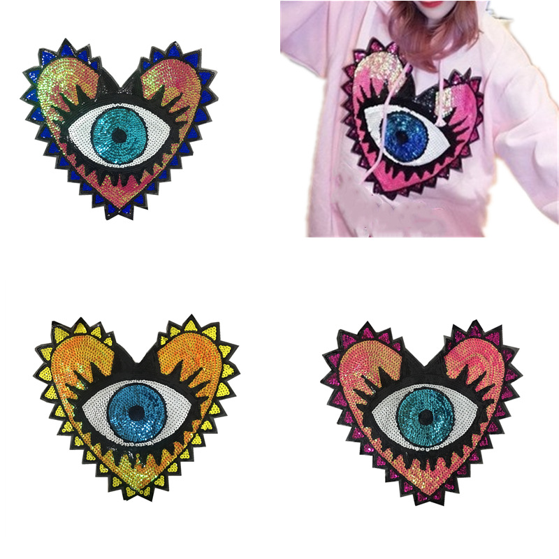2019 New Fashion DIY Applique  Embroidery  Costume Decoration  Decals  Accessories Eyeball