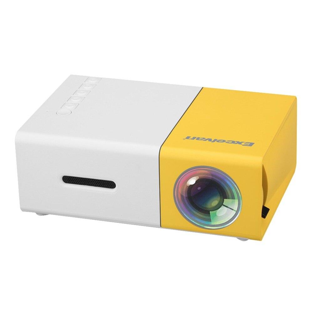 Excelvan YG300 portátil Mini proyector LCD 320x240 píxeles soporte 1080 P con AV/USB/tarjeta SD /Interfaz HDMI construir-en el altavoz