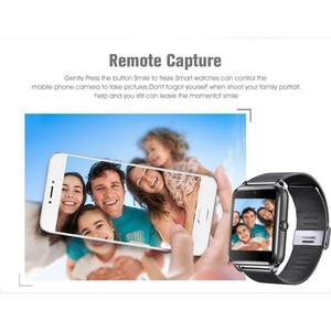Image 4 - 2021 Smart Horloge GT08 Plus Metalen Band Bluetooth Pols Smartwatch Z60/Android Ondersteuning Sim Tf Card Horloge Multi talen