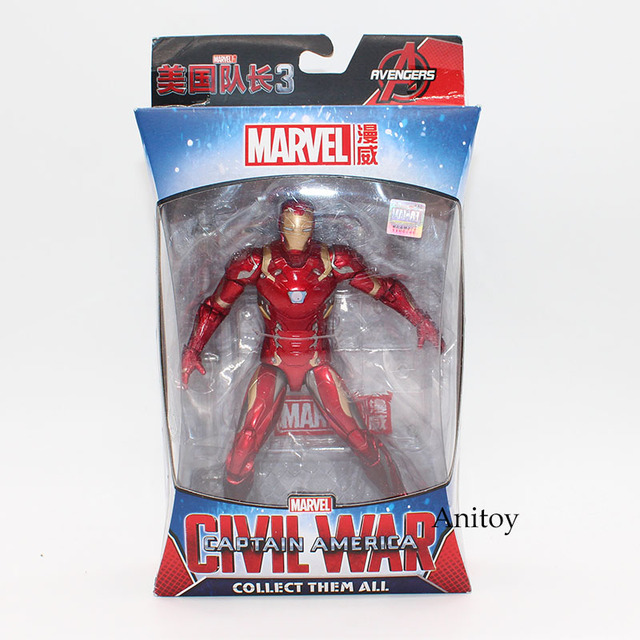 Marvel Avengers Iron Man Black Panther Hawkeye Captain America Black Widow Action Figure 17cm