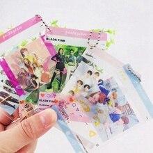 1 шт. K-pop BLACKPINK TWICE GOT7 TXT SEVENTEEN ПВХ прозрачная подвесная цепочка фото карта альбом Фотокарта для фанатов коллекция подарок