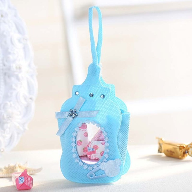 12pcs Baby Shower Favor Bags Baby Bottle Candy Bag Gift Box Packing