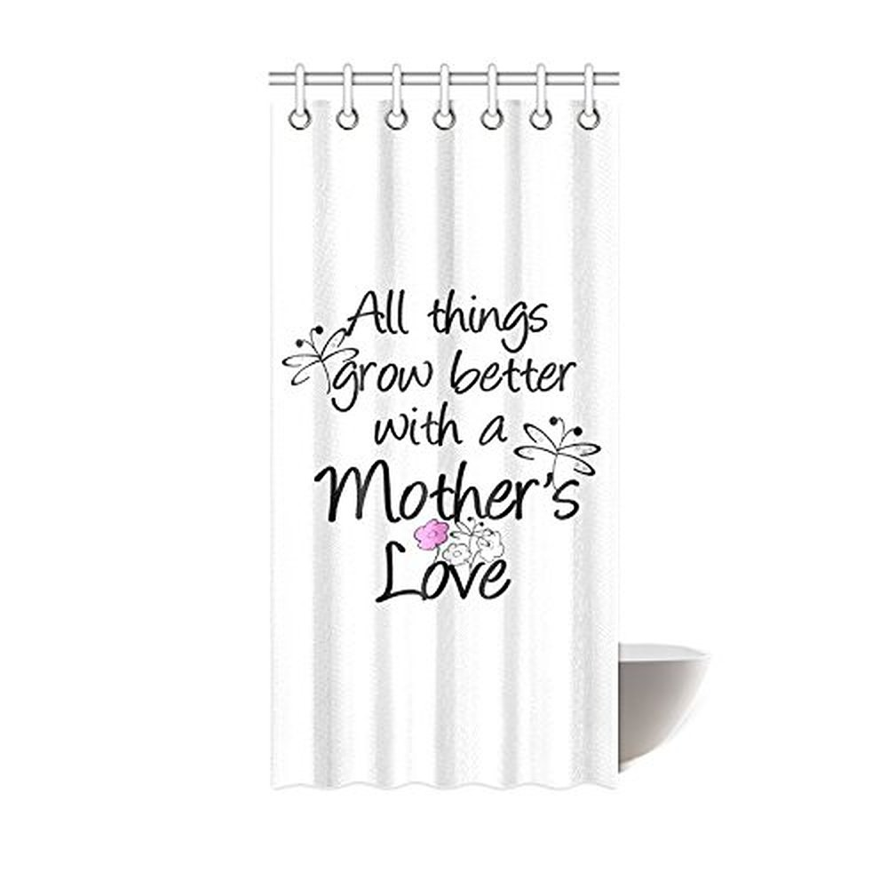 Quotes About A Mother's Love 36W*72H Inch Creative Funny Saying & Quotes All Things Grow