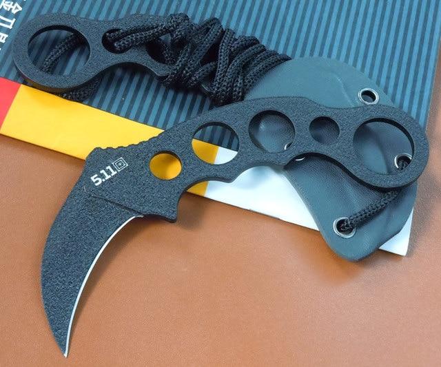 TARANI 5.11 Eagle Talon Claw Knife Camping Knife Fixed Blade Hunting ...