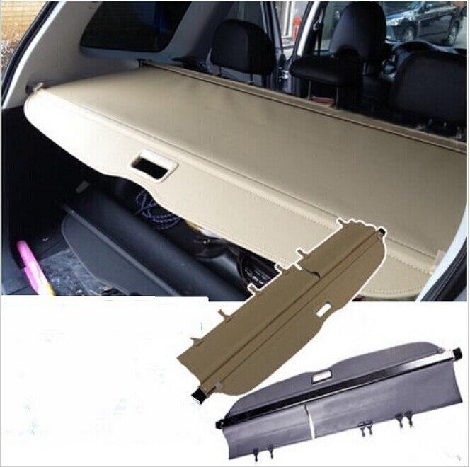 Pour Subaru Forester 2009-2012 couverture de confidentialité de la cargaison arrière écran de protection du coffre ombre de protection (noir, beige)