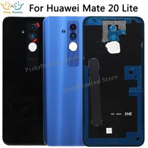 "Image 1 - Original For 6.3"" Huawei Mate 20 Lite Glass Back Battery Cover Case Rear+Glass Lens For Mate 20 Lite Rear Door"
