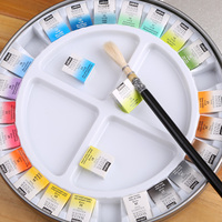Free shipping France Pebeo 24/12 colors official solid watercolor / watercolour paints iron box pigment for master artists