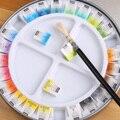 Frete grátis frança pebeo 24/12 cores oficial sólida aquarela/aquarela tintas caixa de ferro pigmento para artistas mestres