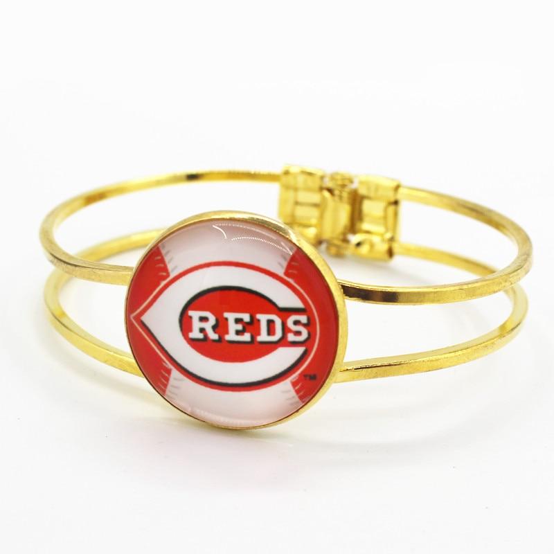 Hot sale sports fans alloy bracelet 6pcs/lot bracelets team Cincinnati Reds charms bracelets jewelry
