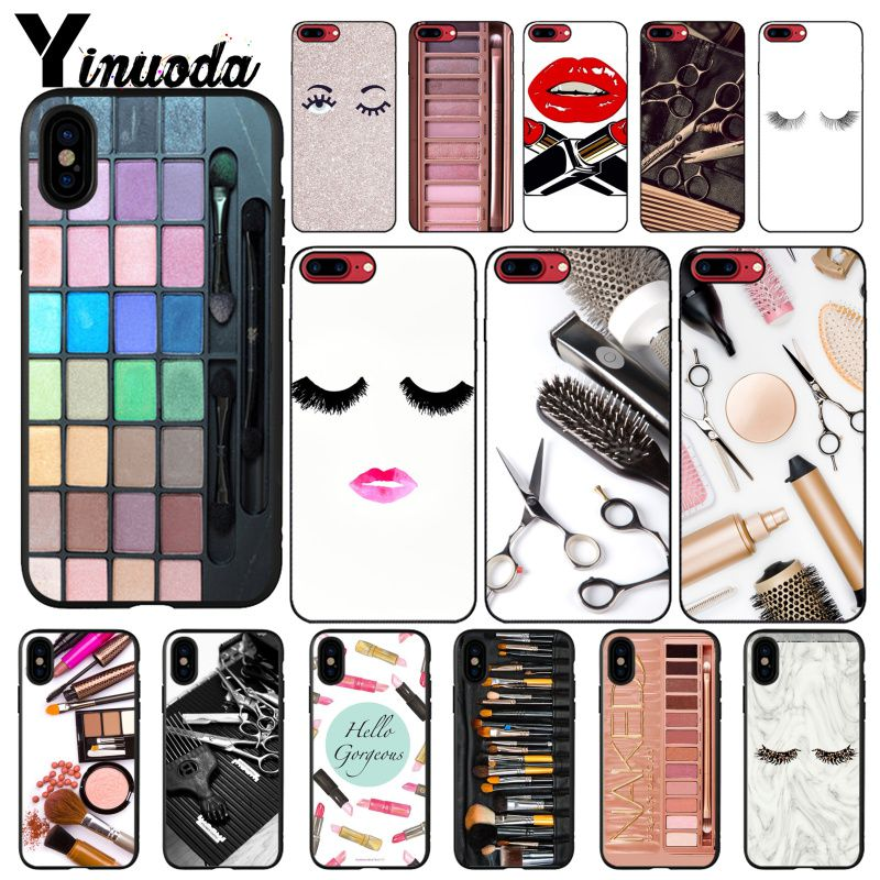 Yinuoda Naked Eyelash Glam <font><b>Makeup</b></font> Palette tools hair stylist Phone Cover For <font><b>iphone</b></font> 11 Pro Max <font><b>6S</b></font> 6plus 7 8plus X Xs MAX 5 5S XR image