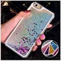Fun Dynamic Liquid Glitter Star Quicksand funda de teléfono para iphone 5C 5 5S 6 6 s 7 8 plus fundas de plástico duro para iphone x funda