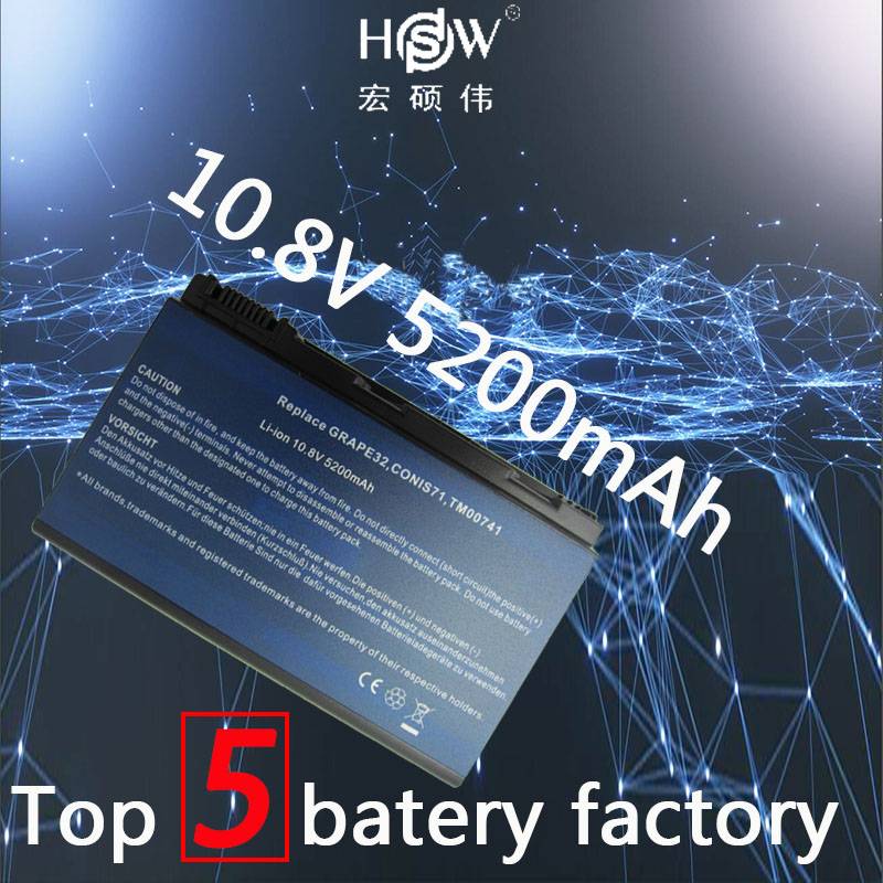 HSW 6cells laptop battery for ACER Extensa 5210 5220 5230 5235 5420 5610 5620 5620Z 5630 7220 7620 TM00741 TM00751 Bateria akku orient часы orient evad004b коллекция classic automatic