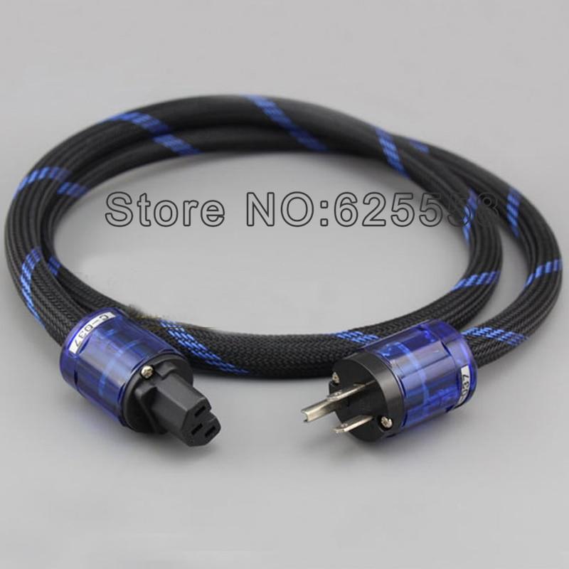 Hi End viborg audio Alpha Series FP-3TS20 Power cord cable,P-037 power plug +C-037 IEC connector power cord cable for hifi  hi end viborg gold plated us power plug hifi usa power cord cable plug iec plug