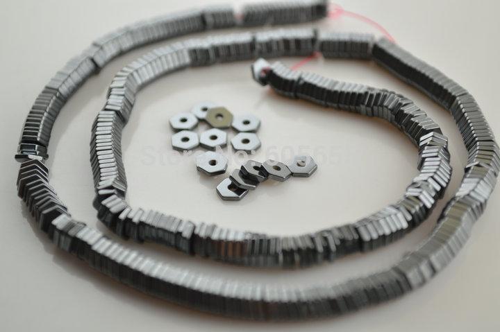 Nickel free tibetan silver bobine biconique soucoupe perles 7mm x 4m-antique silver//bronze