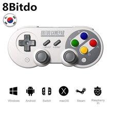 8 Bitdo джойстик Нинтендо переключатель Windows macOS Android контроллер беспроводной джойстик игровой контроллер Bluetooth SF30/SN30 Pro