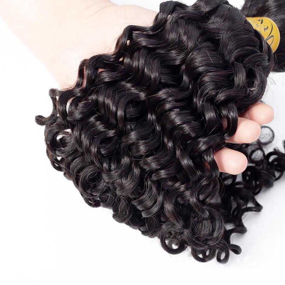 Image 5 - VSHOW Hair Bundles Brazilian Deep Wave Bundles 10 26 Inch Natural Color Hair Weave 100% M Remy Human Hair Extension-in Hair Weaves from Hair Extensions & Wigs