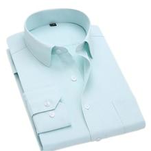 Мужские платья больших размеров рубашки с длинным рукавом деловые рубашки для работы camisa social masculina 6XL 7XL 8XL