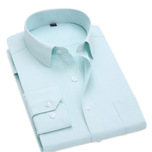 Mens Plus Size Dress Shirts Long Sleeve Business Formal Work Shirts camisa social masculina 6XL 7XL
