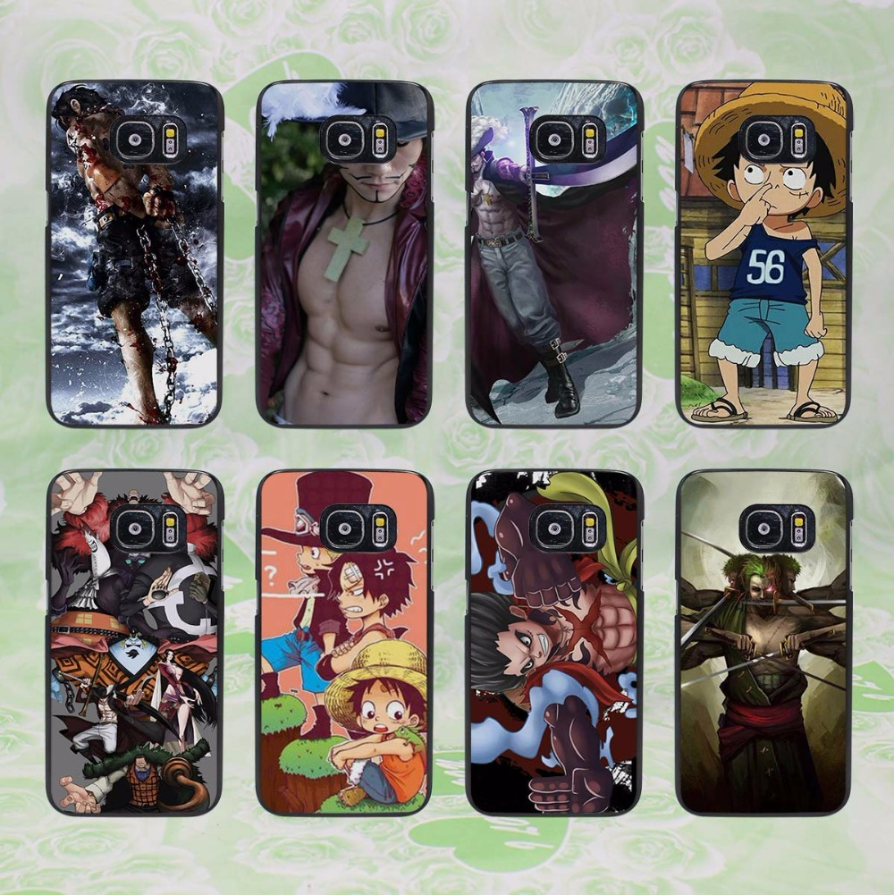 Capinhas ONE PIECE design hard black phone Case Cover for samsung galaxy s8 s8 plus s7 s6 edge j3 j5 2016 j7 2016