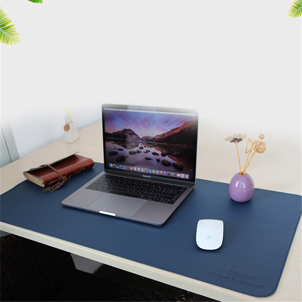 PU Leather Desk Pad for Mouse Laptop Keyboard Portable Mice Mat Soft Business Office Home Large Size Table Pad 900x450mm 900x450mm pu leather desk mouse pad large size anti slip gaming laptop keyboard mice mat office home table pad for macbook dell