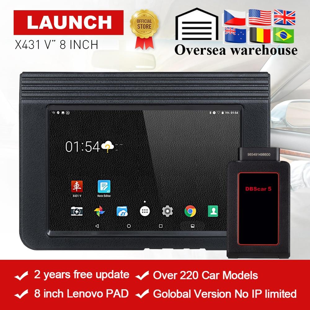 LAUNCH X431 V Bluetooth/Wifi OBD2 Full System Car Diagnostic Tool 8inch X-431 V X431 Pro Mini Car Scanner 2 years free update