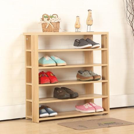 US $229.99 |Armadi di scarpe Scarpiera scarpe organizzatori Mobili Per La  Casa in legno massello di montaggio chaussure rangement schoenen rek  moderno ...