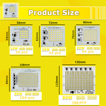 SMD LED Lamps Chip 220V 10W 20W 30W 50W 90W LED Light  Smart IC For Outdoor Flood Light Cold/Warm White LED Light Chips