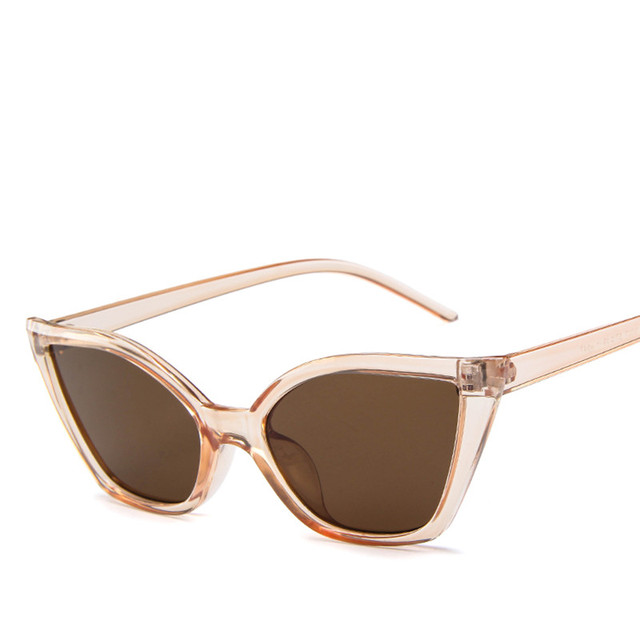 New Luxury Plastic Small Frame Cat Eye Sunglasses Women Brand Designer High Quality Fashion Sun Glasses Female UV400