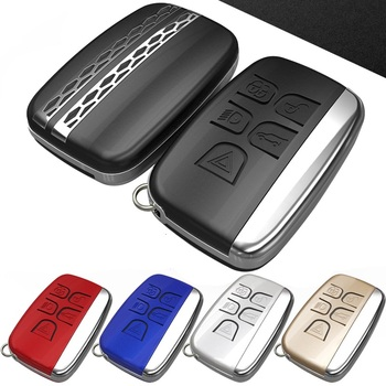 Para Land Rover RANGE ROVER SPORT Evoque discovers SPORT 4 5 para Jaguar XE XFL funda para llave de coche accesorios de metal para llavero