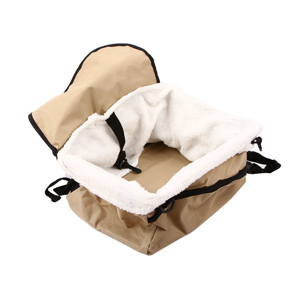 Pet Car Booster Seat Carrier Foldable Pet Car Seat Cover for Dog and Cat ...