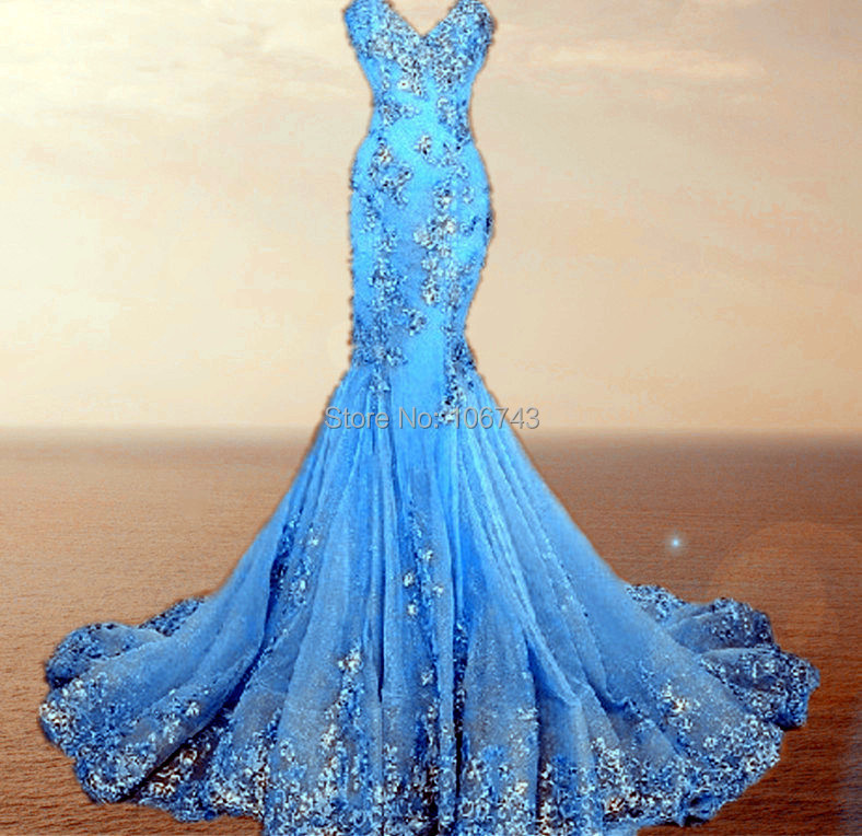 appliques Sequins lace Prom Dresses Luxury Evening Gowns Sweetheart robe de soiree Mermaid Long Evening Dress 2016 real photos