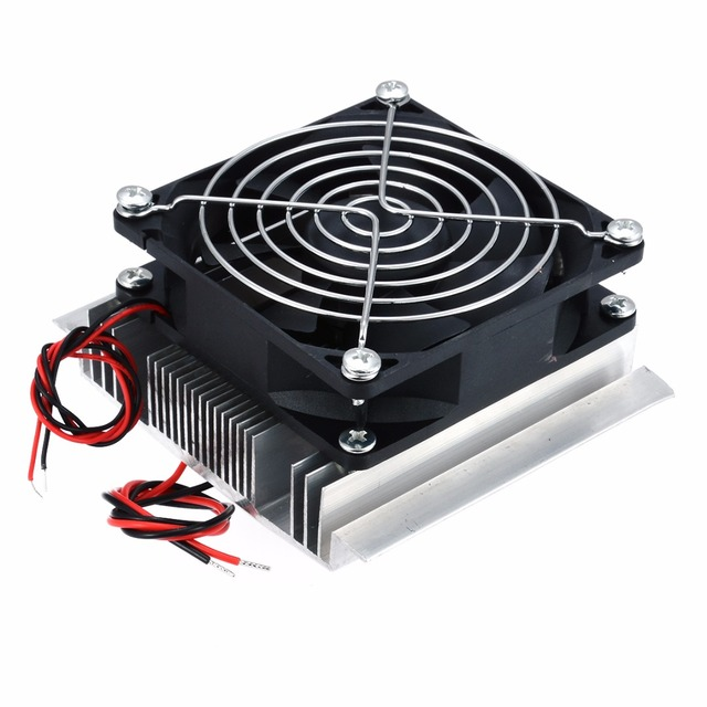 1pc Thermoelectric Peltier Refrigeration Cooler DC 12V Semiconductor Air Conditioner Cooling System DIY Kit 5