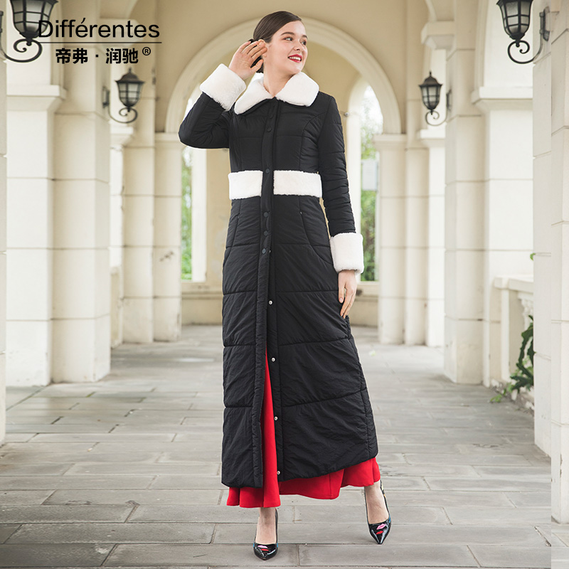 Femmes Fourrure Chaud Patchwork Hiver Parka Dz1005 Haute Ol Manteau D'hiver Blacl Outwear Qualité De Style Long X w08Cq