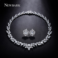 White Gold Plated Poem Of Spring Top Quality Swiss Cubic Zirconia Bridal Jewelry Set JingJing JS009