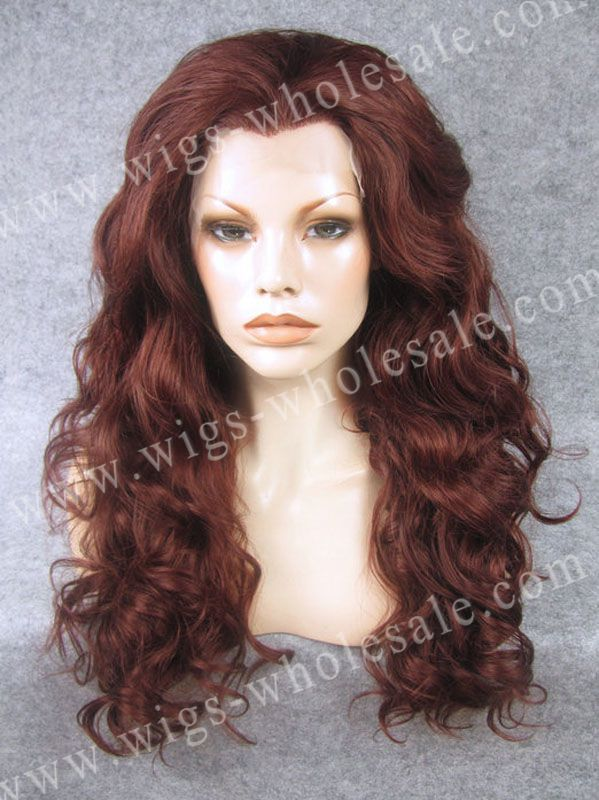 Synthetic spanish body wave lace front wigs auburn long wavy wig(China  (Mainland) - Online Get Cheap Spanish Hairstyles -Aliexpress.com Alibaba Group
