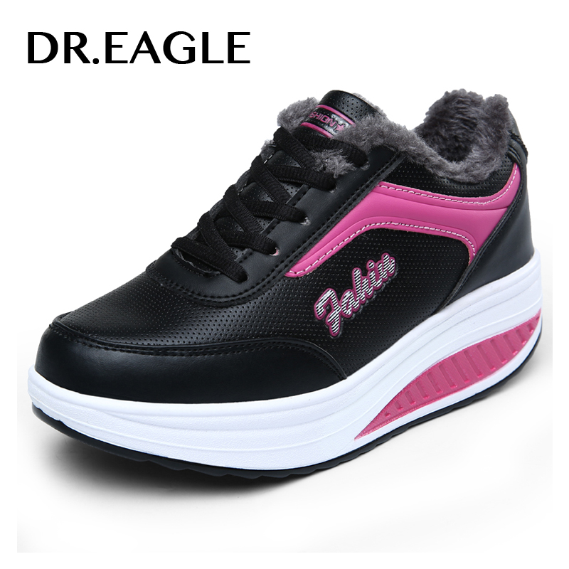 DR.EAGLE Womens sports toning shoes Swing Wedges platform zapatos mujer trainers Sport sneakers woman shoe winter krasovki