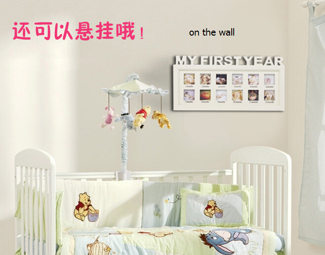 Babys First Year 12 months month Baby Frame set table/Hanging Decorative Photo Frame kids Childrens Day gift Free Shipping