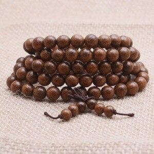 Image 2 - Yanqi 6 20 мм деревянные бусины из сандалового дерева для молитвы, эластичный браслет, мужские ювелирные изделия, Аутентичные африканские бусины для Будды