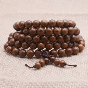 Image 2 - Yanqi 6 20mm wood sandalwood prayer beads elastic bracelet men jewelry Authentic African Buddha wood bead bracelet beads