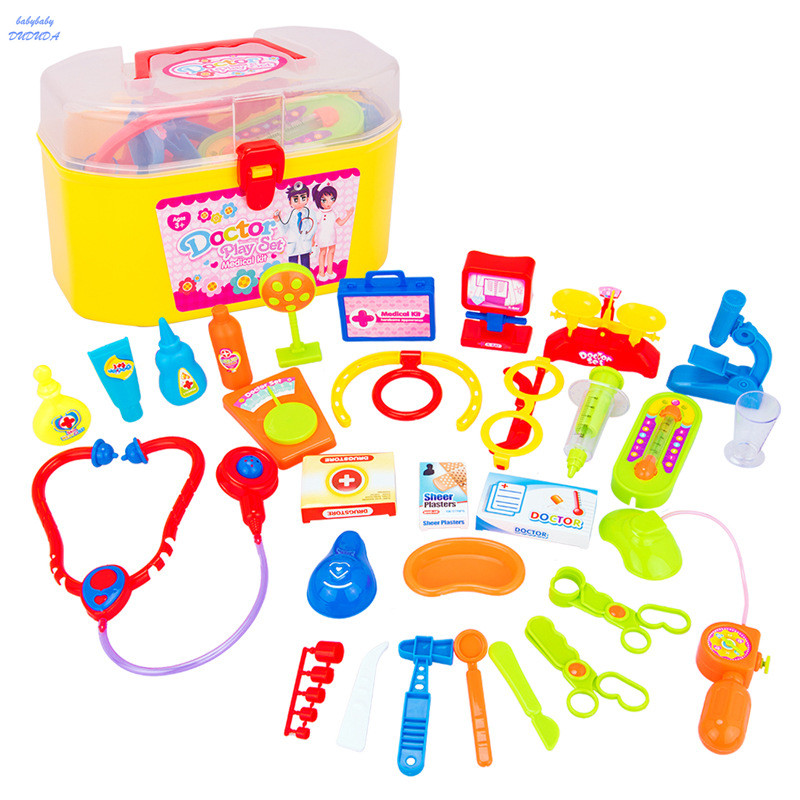 30Pcs/Set Doctor Toys Set Dr. Baby Kit Pretend Play Medical Tool Box Simulation Physician Cosplay Kids Children Toy Gift