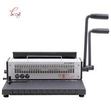 Manual Wire binding machine 34 Holes Metal Spiral Wire Spool Binding Machine A4 Binder Puncher machine 1pc