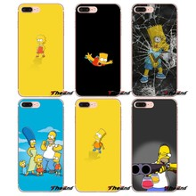 The Simpsons Cartoons Anime Phone Case For iPhone X 4 4S 5 5S 5C SE 6 6S 7 8 Plus Samsung Galaxy J1 J3 J5 J7 A3 A5 2016 2017(China)