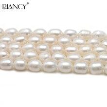 8-9mm Rice Shape Freshwater Pearl Loose Beads Strand 38cm,DIY Real Pearl Beads недорого