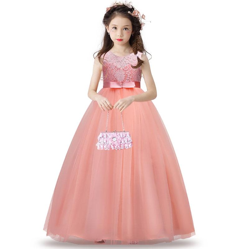 Kinder Spitze Prinzessin Mädchen Kleid für Hochzeit Geburtstag Party ...