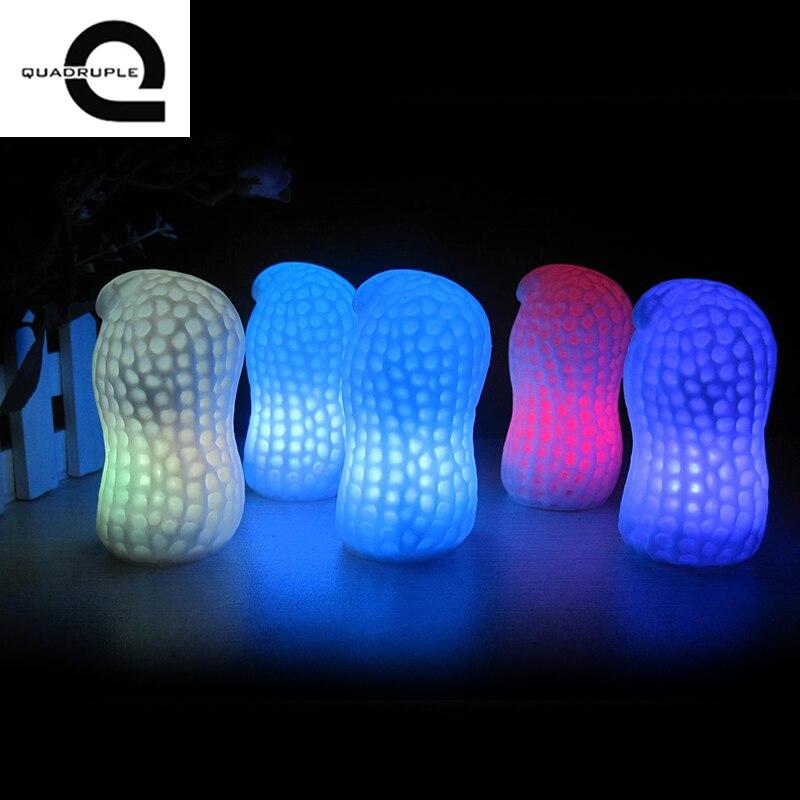 1 шт. арахиса светодиодный ночник Батарея для детей Новинка элементы Рождество для отдыха и вечеринок домашние украшения лампы освещения