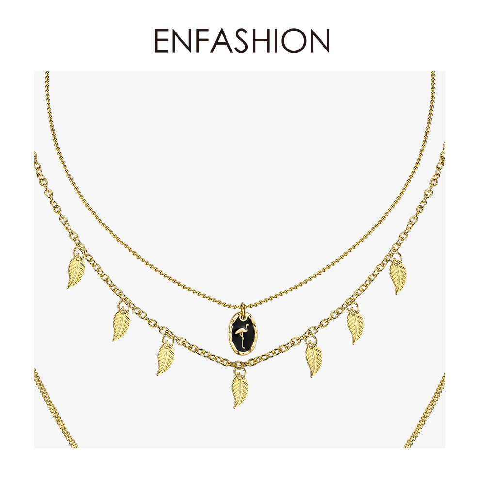 Enfashion wielowarstwowe naszyjnik łańcuch dla kobiet wakacje Vintage złoty kolor długi czeski Choker naszyjniki biżuteria prezenty P193008
