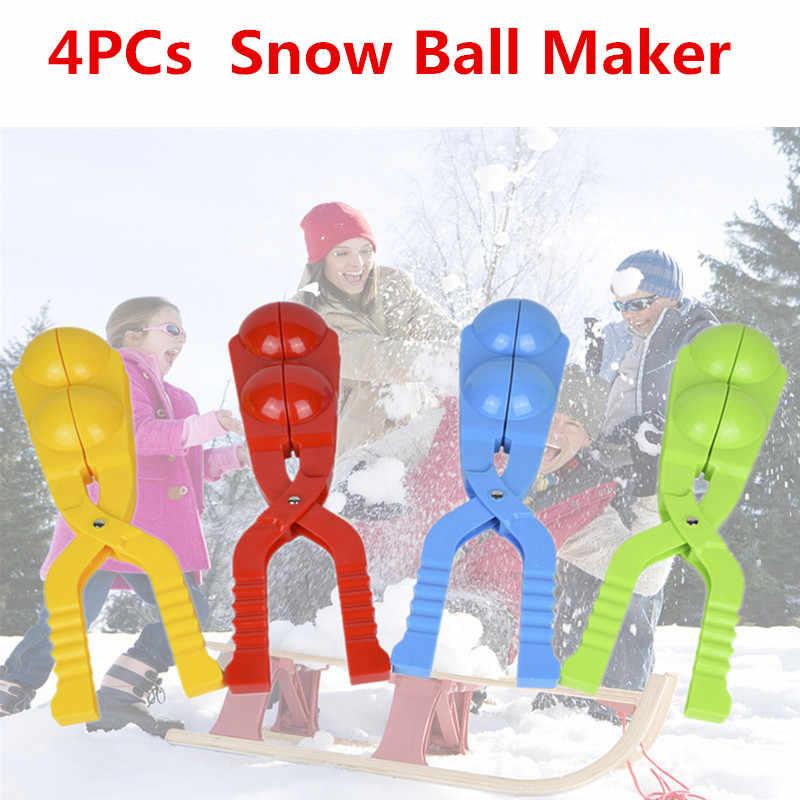 4 шт. инструмент для лепки снежков инструмент для активности бой снежками Снежный фиксатор в виде шарика формочка для песка Рука теплая игра игрушки дети подарок на Рождество