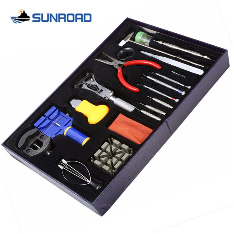 20-in-1 Watch Repair Tool Kit Set Watch Case Opener Link Spring Bar Remover Screwdriver Tweezer Watchmaker Dedicated Device DIY watch link removal kit adjuster repair tool set with 5 pins