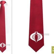 """G.I. Joe Cobra символ Мужской Жаккардовый тканый тонкий узкий 2,"""" галстук 6 см Галстук Свадебная вечеринка галстук для жениха запонки LK067M"""