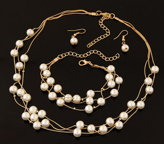 Imitation Pearl Jewelry Set...
